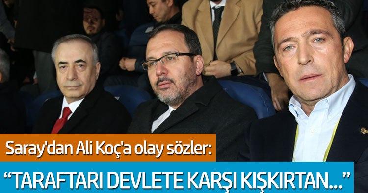 Cumhurbaşkanı Başdanışmanı Yiğit Bulut'tan Ali Koç'a olay sözler