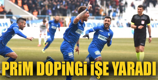 Erzurumspor'da şampiyonluk primi etkisini gösterdi