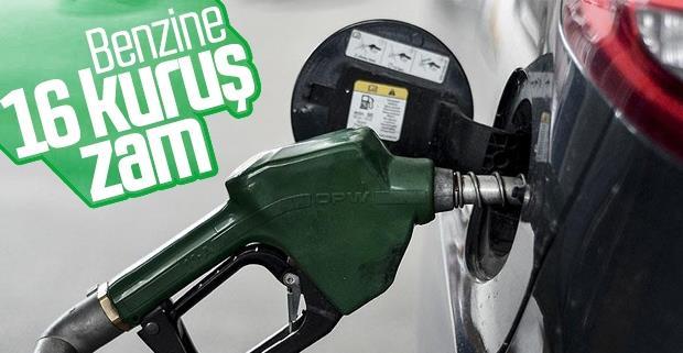 Benzinin litre fiyatına 16 kuruş zam