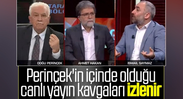 Doğu Perinçek ve İsmail Saymaz arasında çok sert tartışma: PKK'yı ziyaret eden Perinçek'ten mi öğreneceğiz