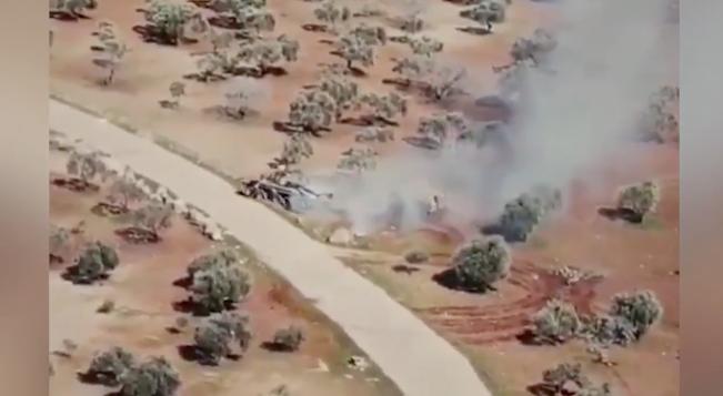 İdlib'de TSK'nın desteklediği muhalifler rejim tankını kovaladı!