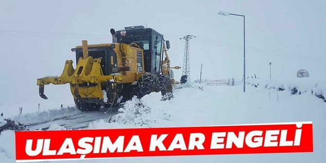 Doğu Anadolu'da 151 köy ve mahalleye ulaşım sağlanamıyor