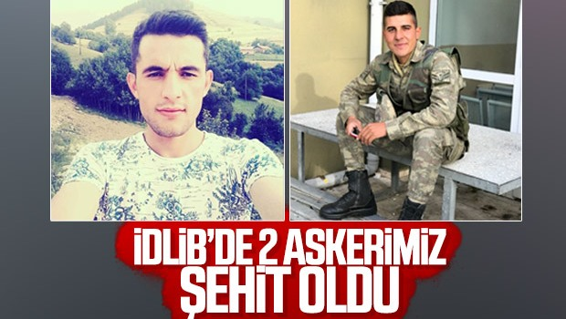 İdlib'den kahreden haber! 2 askerimiz şehit düştü
