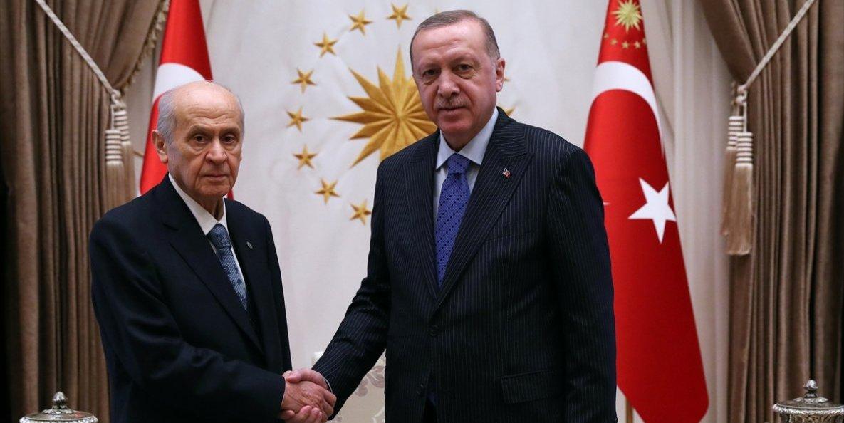 Erdoğan ile Bahçeli Külliye'de bir araya geldi