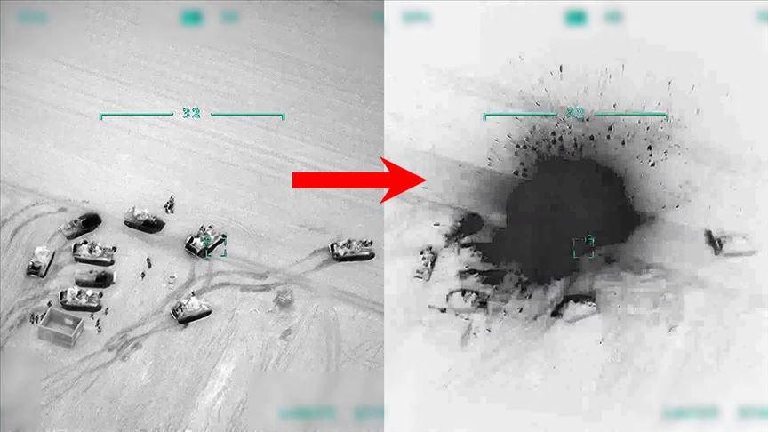 Türkiye Suriye'de rejime ait unsurları gece boyunca vurdu