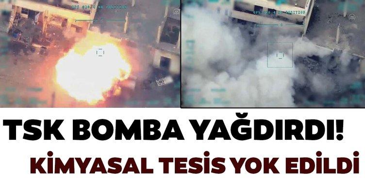 TSK, rejimin kimyasal harp tesisini vurdu