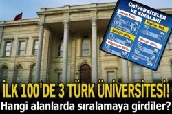 İlk 100'de 3 Türk üniversitesi