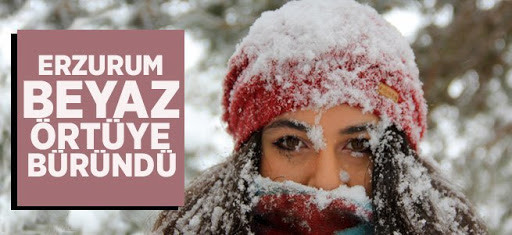 Erzurum'da kar yağışı etkili oluyor