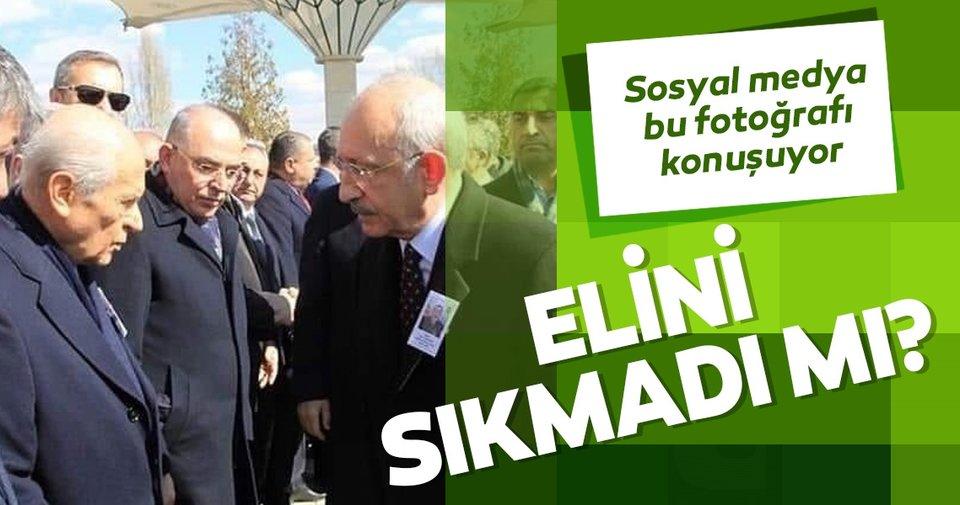 Şehit cenazesinde Bahçeli ile Kılıçdaroğlu el sıkışmadı
