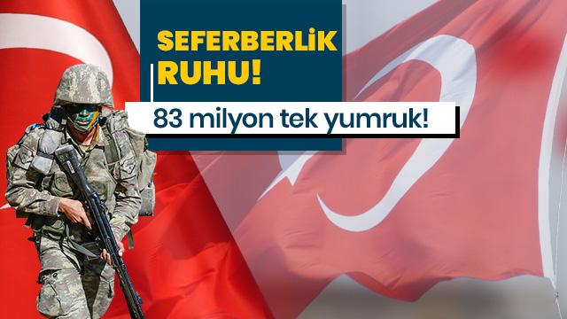 Türkiye'nin dört bir yanında Mehmetçik için destek yürüyüşleri yapıldı