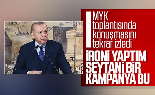 Erdoğan, tartışılan konuşmasını yorumladı