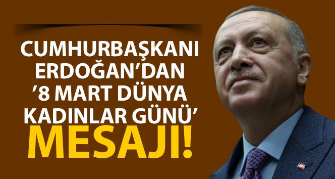 Erdoğan'dan '8 Mart Dünya Kadınlar Günü' mesajı