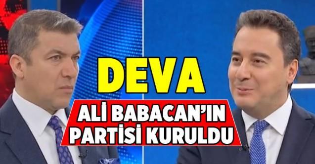 Ali Babacan'ın Demokrasi ve Atılım Partisi DEVA kuruldu