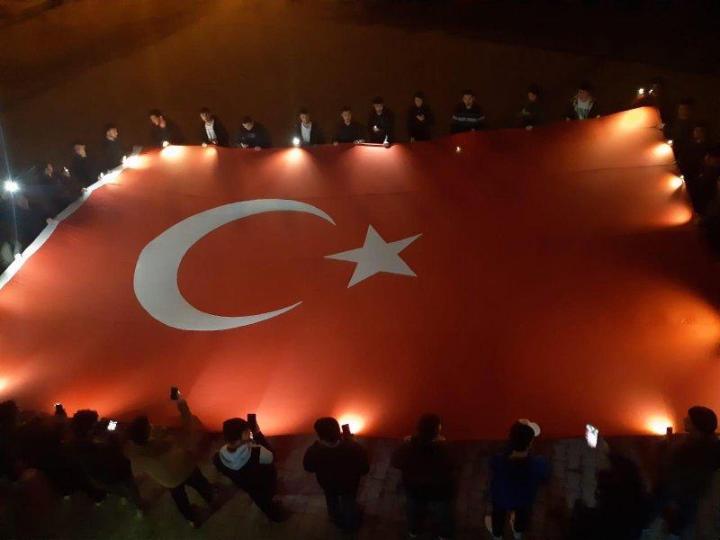Erzurum'da eğitim gören öğrencilerden Bahar Kalkanı Harekatı'na destek