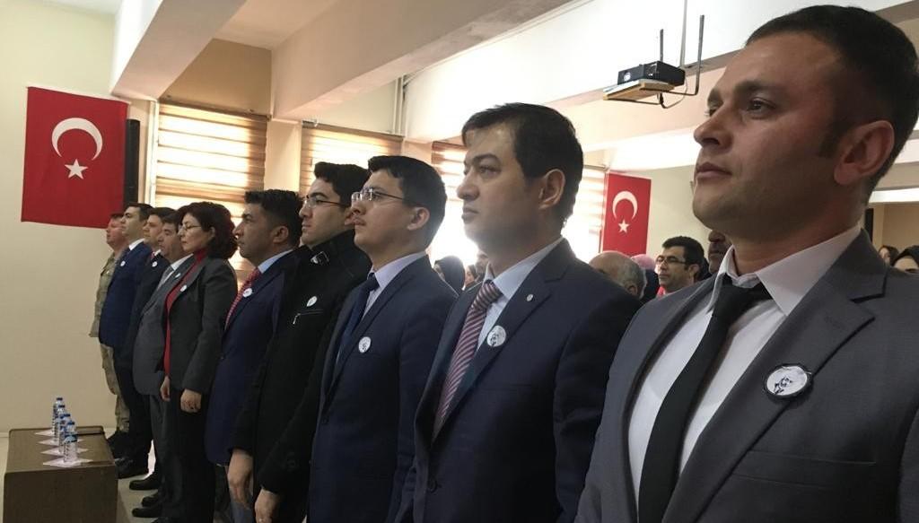 Tekman'da İstiklal Marşı'nın kabulünün 99. Yıldönümü etkinliği