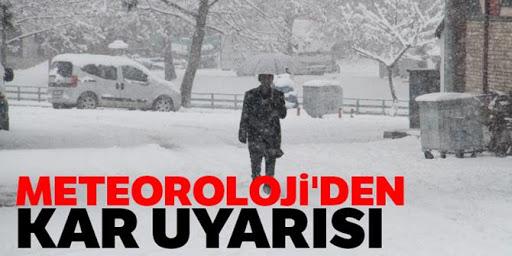 Doğu'daki 7 ilde karla karışık yağmur ve kar etkili olacak