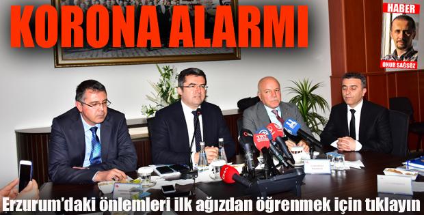 """Erzurum'da """"koronavirüs"""" tedbirleri ele alındı"""