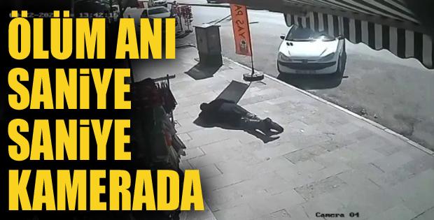 Kaldırımda yürüyen adamın ani ölümü kamerada!