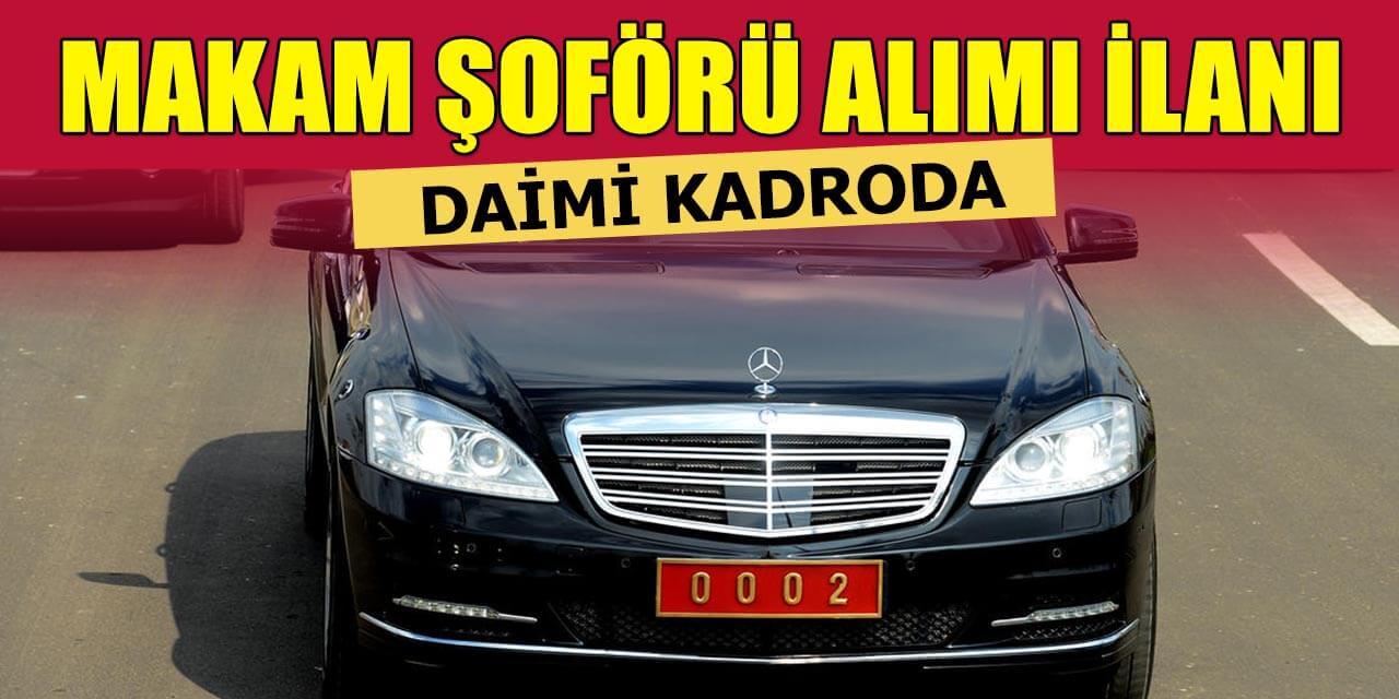 Erzurum Büyükşehir Belediyesi Daimi 2 Makam Şoförü Alımı ilanı