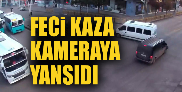 Erzurum'da 5 kişinin yaralandığı feci kaza kamerada