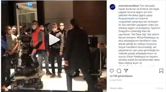 Erkan Petekkaya'nın başrolde oynadığı Gel Dese Aşk dizisinin çekimleri durduruldu!