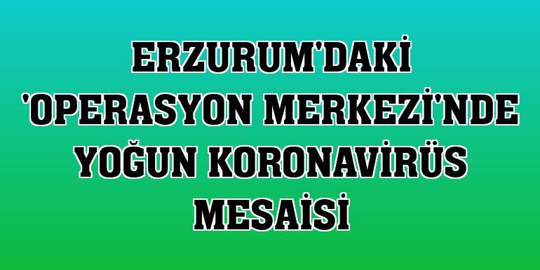 Erzurum'daki 'Operasyon Merkezi'nde yoğun koronavirüs mesaisi