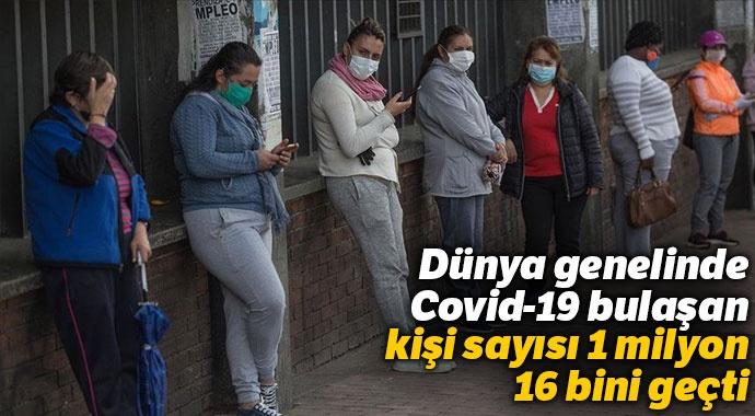 Dünya genelinde Kovid-19 bulaşan kişi sayısı 1 milyon 16 bini geçti