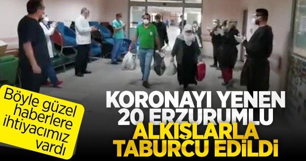 Erzurum'da tedavisi tamamlanan 20 hasta taburcu oldu