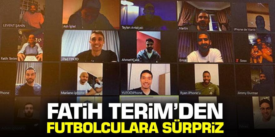 Fatih Terim futbolcularla video konferans düzenledi