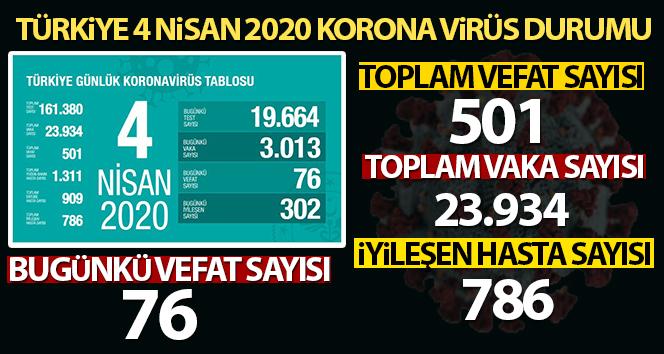 Türkiye'de korona virüsten hayatını kaybedenlerin sayısı 501 oldu