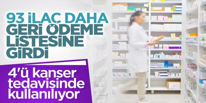 93 ilaç daha geri ödeme listesine alındı
