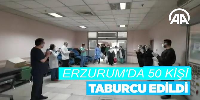 Erzurum'da Kovid-19 tedavisi görüp taburcu olanların sayısı 50'ye ulaştı