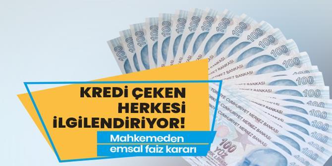 Kredi çeken herkesi ilgilendiriyor!
