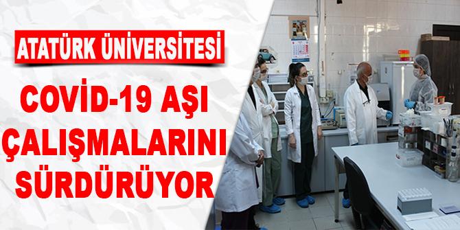 Atatürk Üniversitesi, Covid-19 aşı çalışmalarını sürdürüyor