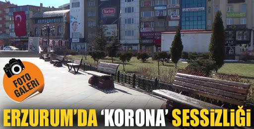 Erzurum'un en işlek yerleri sessizliğe büründü