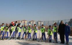 Erzurum'da kayaklı koşu yapıldı