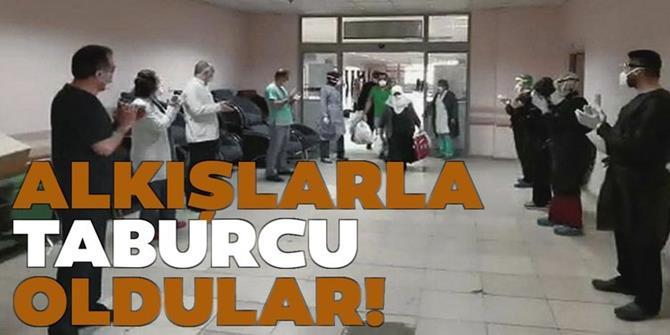 Erzurum'da Tedavisi tamamlanan 11 hasta alkışlarla taburcu oldu