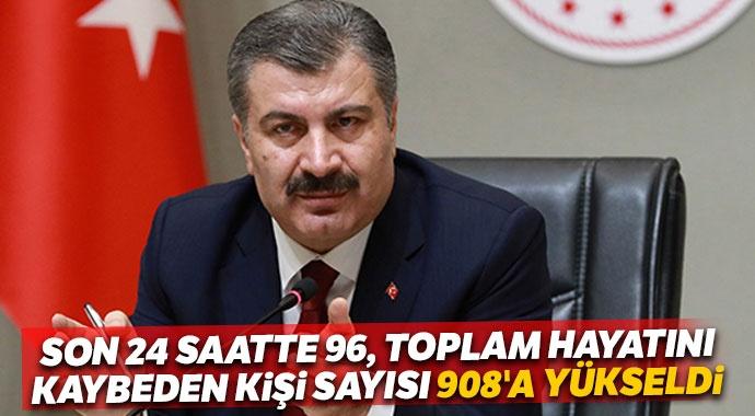 Bakan Koca: Bugün 96 vatandaşımız hayatını kaybetti