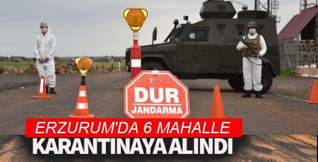 Erzurum'da 6 mahalle karantinaya alındı