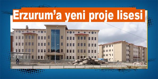 Erzurum'a yeni proje lisesi müjdesi