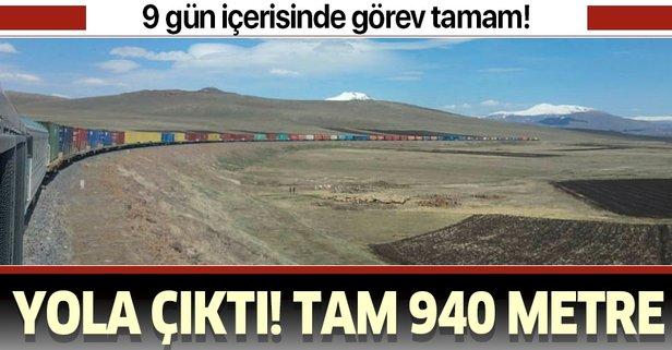 940 metrelik ihracat treni Türkiye'den Orta Asya'ya doğru yola çıktı