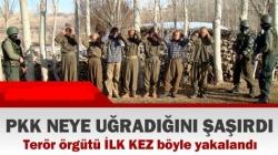 PKK neye uğradığını ŞAŞIRDI