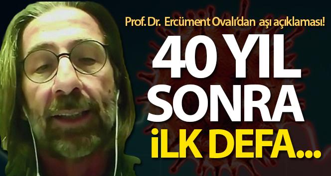 Prof. Dr. Ovalı: '40 yıl sonra ilk defa bir aşıyı ürettik ve test aşamasına kadar getirdik'
