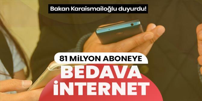 81 milyon aboneye 1 GB mobil internet hediyesi