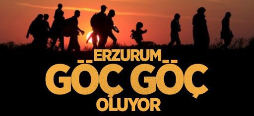 Erzurum göç veriyor!