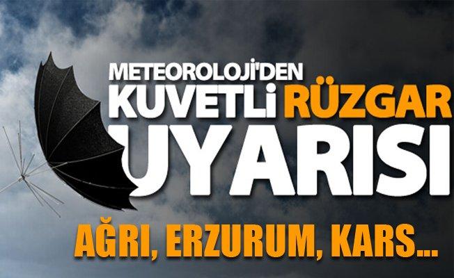 Erzurum, Ağrı ve Kars için meteorolojik uyarı