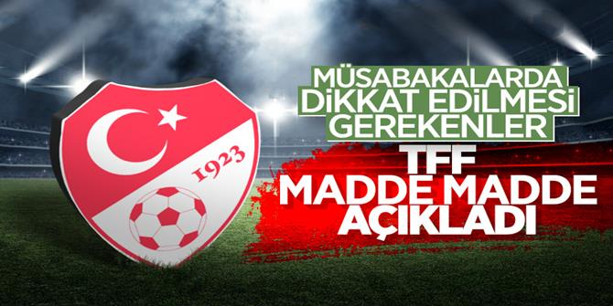 TFF, Futbola Dönüş Öneri Protokolü'nü yayınladı