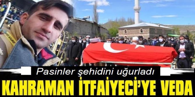 İtfaiye şehidi memleketi Erzurum'da son yolculuğuna uğurlandı