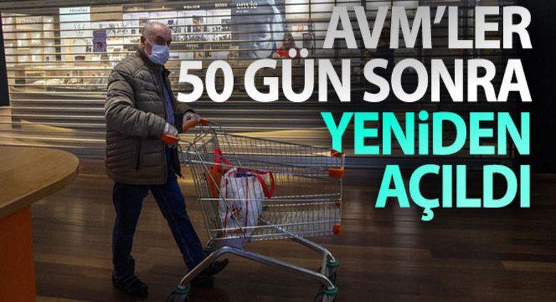 Erzurum'da AVM'ler yeniden kapılarını açtı