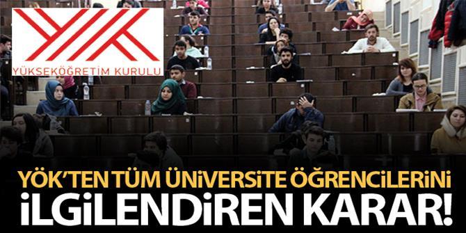 YÖK: Üniversitelerde sınavlar yüz yüze gerçekleştirilmeyecek
